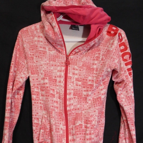 Bench size small zip up exercise hoodie